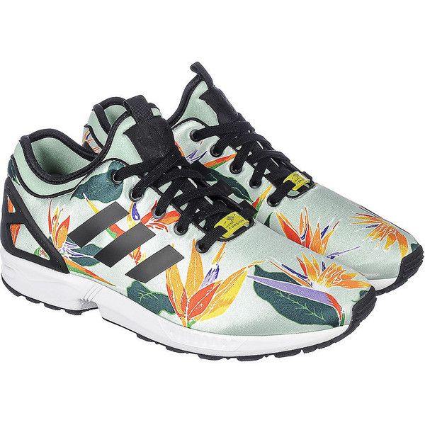 adidas The ZX Flux NPS Sneaker in Multi (€80) ❤ liked on Polyvore featuring men's fashion, men's shoes, men's sneakers, mens black shoes, mens floral shoes, adidas mens sneakers, mens floral print shoes and mens lace up shoes