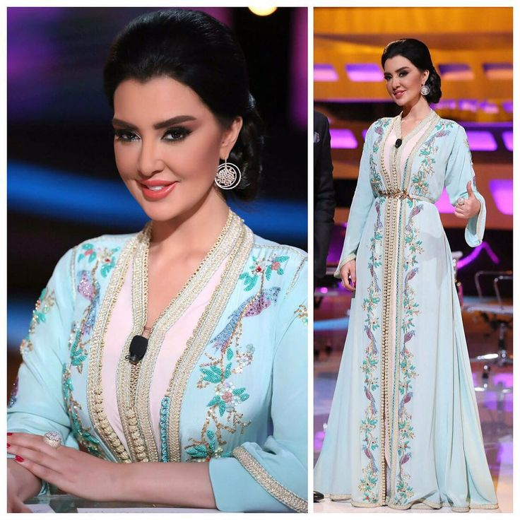 """""""Gorgeous as usual !! I can't get enough of it ❤️ @mayssamaghrebi11 looking stunning in this beautiful #thehanginggardens signature #caftan by Selma…"""""""