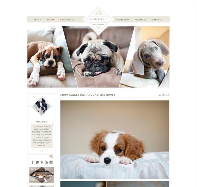 Pet photography ProPhoto Blogsite Template by Design Aglow #designaglow