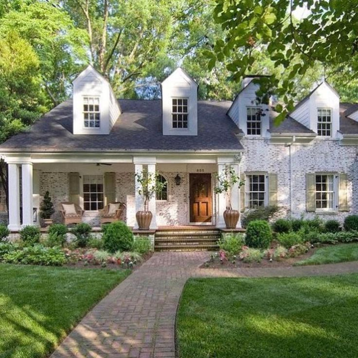 25 Best Ideas About White Brick Houses On Pinterest