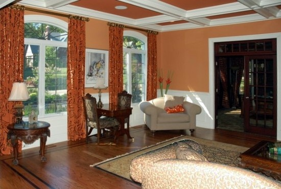 Living Room Terra Cotta Accent Wall Design Pictures Remodel Decor And Ideas Page 9 Terra