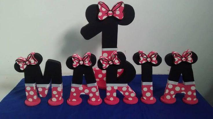 Letras Minnie Mouse para fiesta infantil