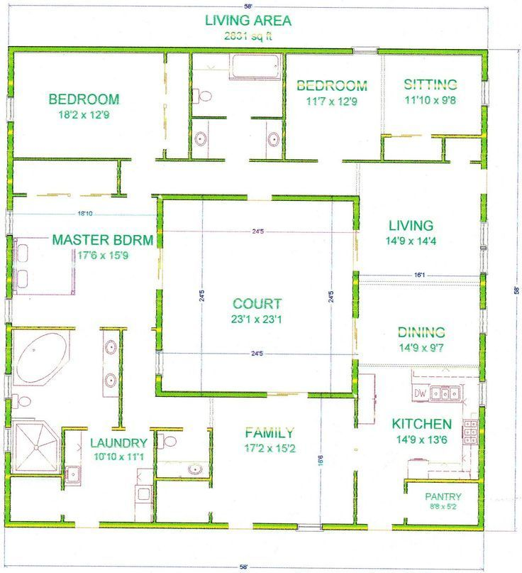 25 best ideas about atrium house on pinterest courtyard for Courtyard house plans