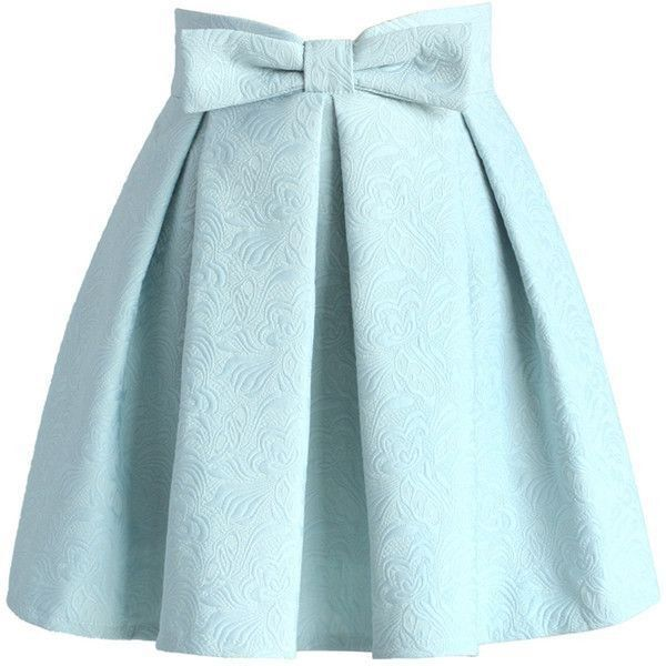Chicwish Sweet Your Heart Jacquard Skirt in Pastel Blue ❤ liked on Polyvore featuring skirts, jacquard skirt, heart skirt, blue skirt, pastel skirt and blue knee length skirt
