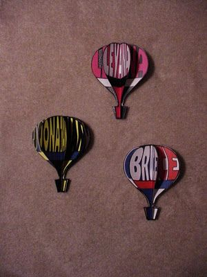 Personalized Hot Air Balloons