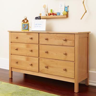 Natural Simple 6-Drawer Dresser