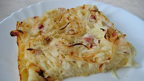 Zwiebelkuchen (German Onion Pie)-Common around Germany and the Alsace wherever wine is grown, this Onion Pie is a very welcome addition to any winter dinner. Enjoy warm, fresh from the oven, or days later with a glass of wine.
