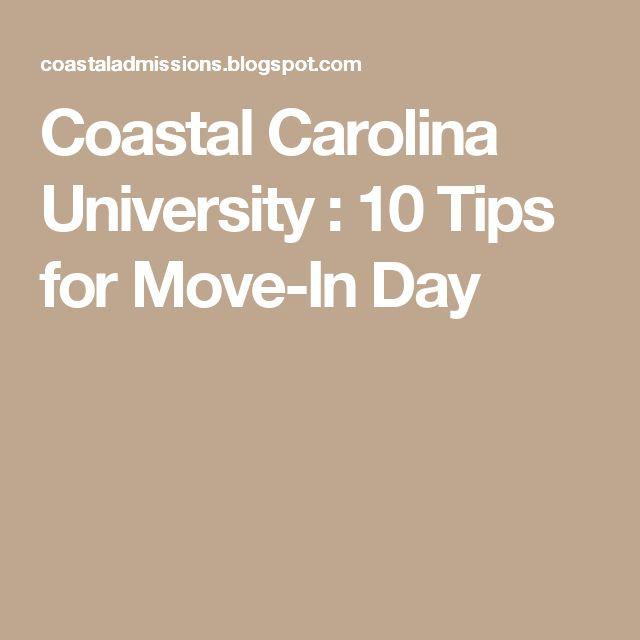 Coastal Carolina University : 10 Tips for Move-In Day