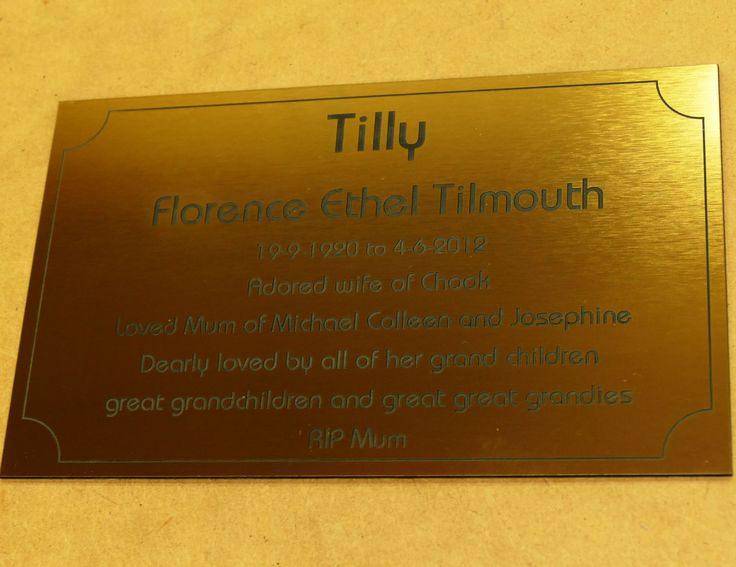 Brush metal exterior sign engraved for commemorative plaques