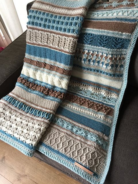 Double Trouble Crochet Blanket is one of the most beautiful blankets I have ever seen. Only your imagination and color perception can limit you in creating this project.