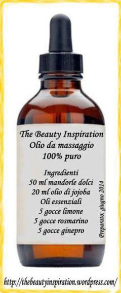 Olio da massaggio anticellulite, drenante e tonificante, home-made. Tutti i dettagli spiegati nel mio nuovo articolo, come si prepara, come si applica, quali oli scegliere .