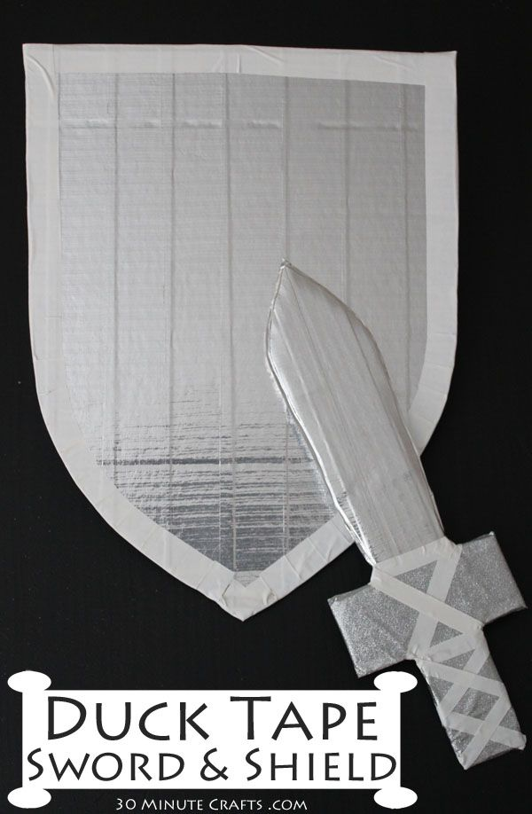 Duck Tape Sword and Shield on 30 Minute Crafts