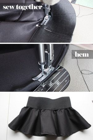 DIY Peplum Decorative Over Skirt - a fun frill that can be slipped over all your tops and skirts!