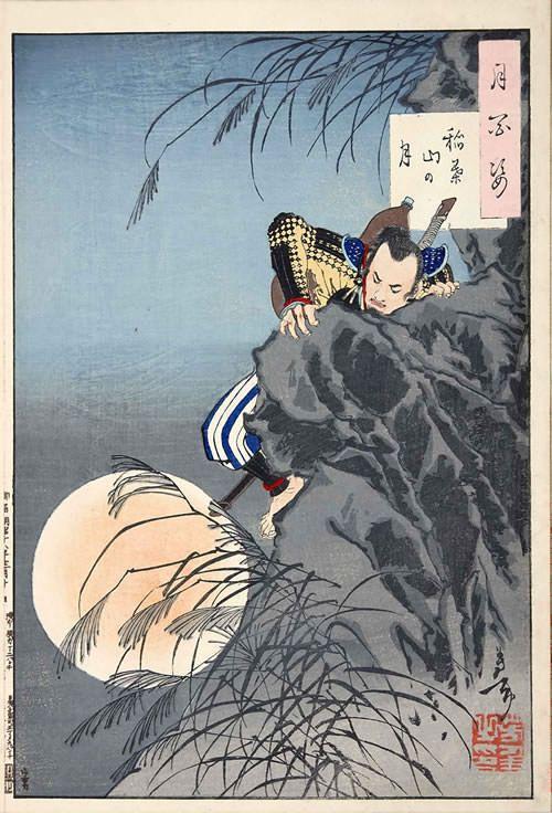 『稲葉山の月』(『月百姿』シリーズ、作・月岡芳年)