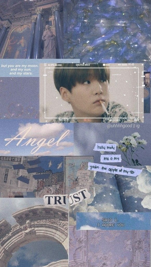 Yoongi Suga Blue Aesthetic Wallpaper Aesthetic Wallpapers Blue Aesthetic Wallpaper