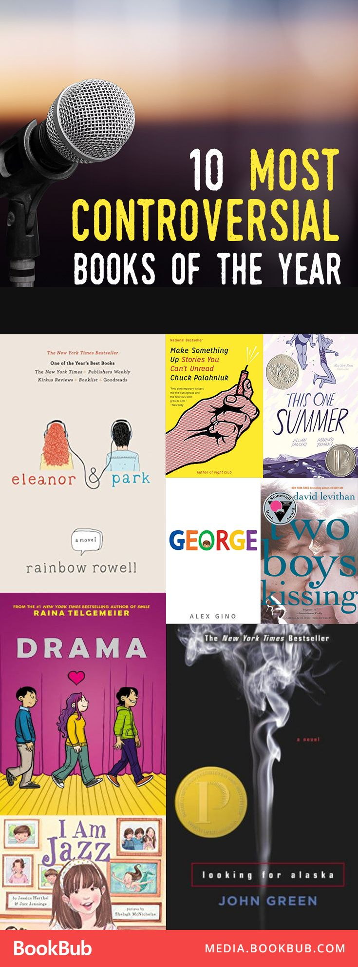 10 of the most controversial books of the year, including popular books for teens and young adults.