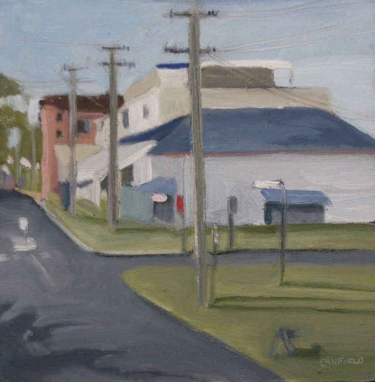 Brunswick Heads (and Arnie, April 2014). Oil on calico on board. 290mm x 290mm.