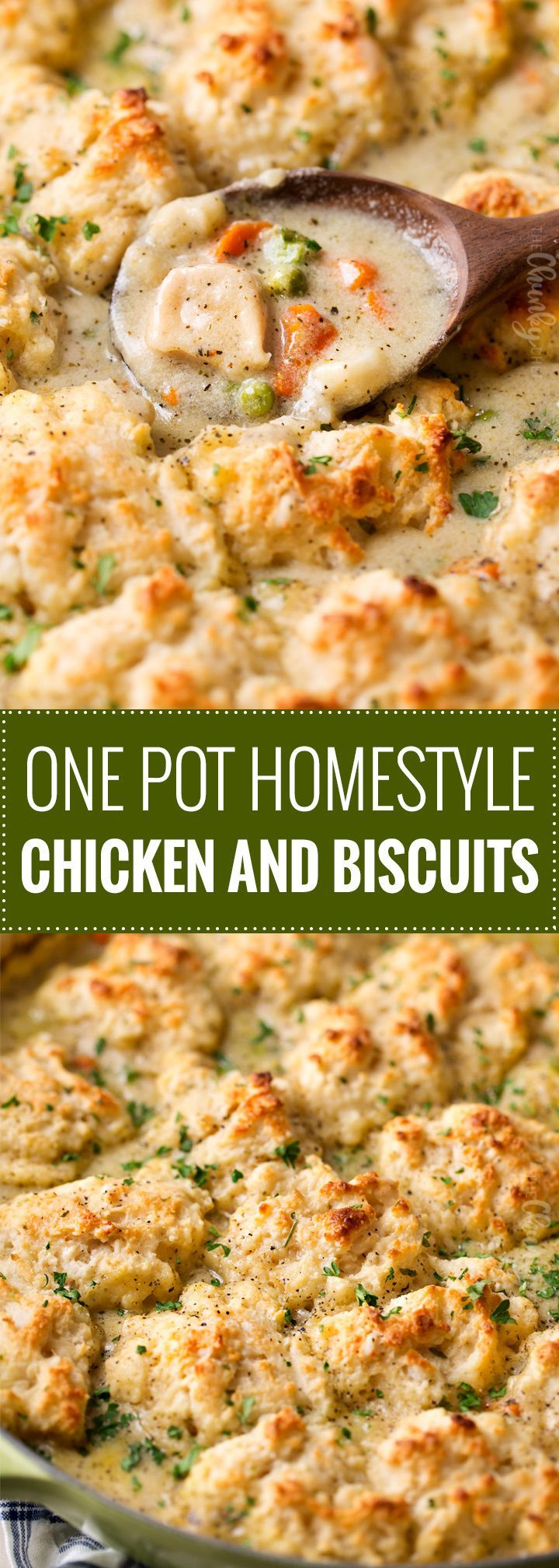 Homestyle Chicken and Biscuits