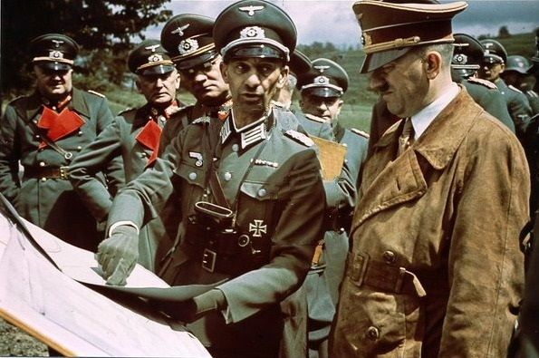 real color of hitler at the westwall in 1938