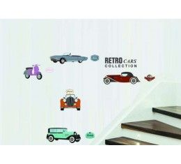 Retro Cars wall sticker available at www.kidzdecor.co.za. Free postage throughout South Africa