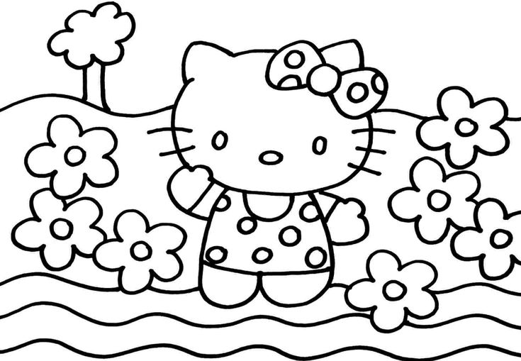 Pin On Hello Kitty Preschool coloring games online free