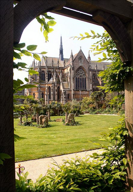 Arundel Cathedral From Castle Gardens, Sussex, UK ...( I'll book us into St Mary's Gate Inn again...)