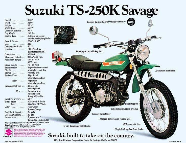 Suzuki TS 250 enduro klassieke motorfiets