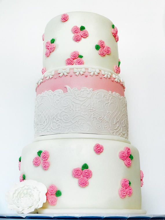 A less expensive but just as beautiful alternative for high end custom cakes. this is perfect to use for weddings, Birthdays, quinceaneras, anniversar...