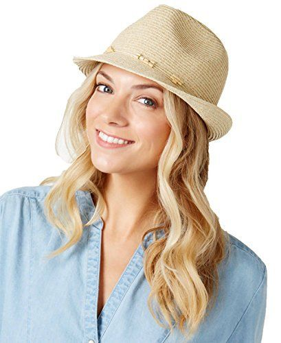 Nine West Womens Packable Fedora Hat One Size Sand Heather One size fits  all Paper polyester Spot clean only Famous Words of Inspiration. a2106c07ba1