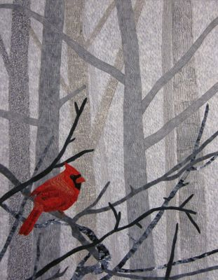 Midwinter Visitor by Chris Staver, Learn with Ellen, Adventure Quilter; See Craftsy class with Wendy Butler Berns