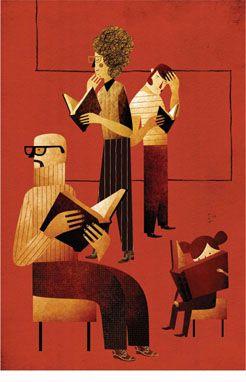 Cartel conmemorativo del Día del Libro 2013, de la Red de Bibliotecas Públicas de Navarra