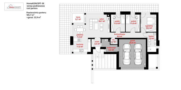 Modern houses photos by homekoncept | projekty domów nowoczesnych i homify