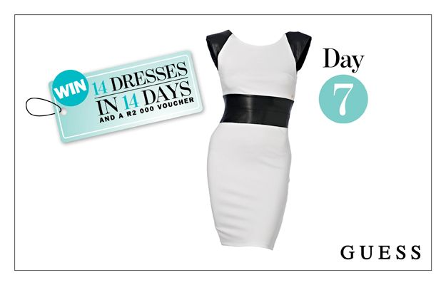WIN: A Black and White Body-Con Dress From GUESS