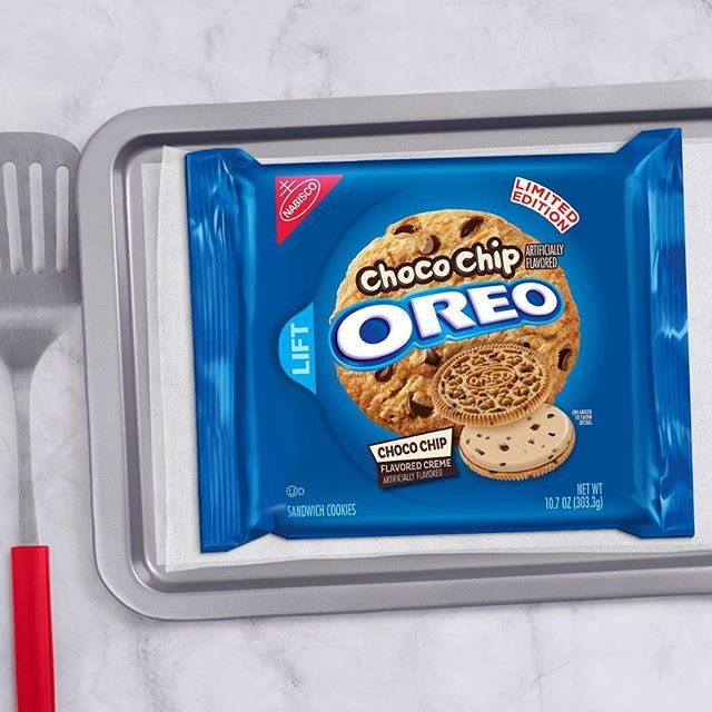New Choco Chip Flavored Oreo Cookies. All the comfort of home, no oven necessary.