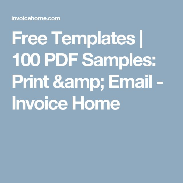free templates 100 pdf samples print email invoice home - Invoicehome Com