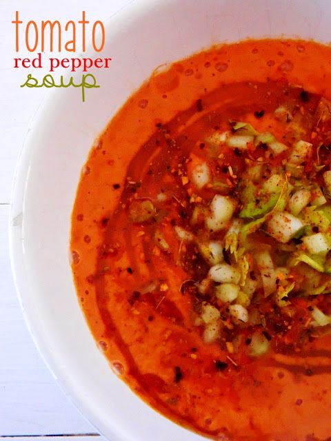 Raw on $10 a Day (or Less!): Tomato Red Pepper Soup ~ a Raw Food Recipe - So glad I found this