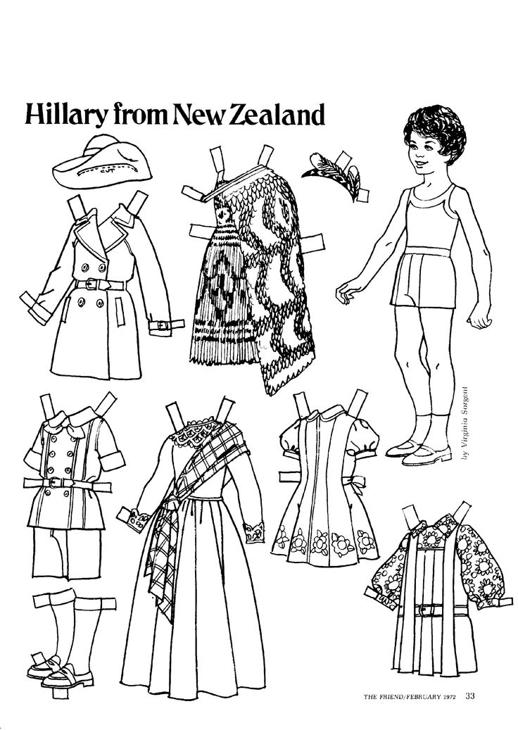 The Friend magazine Paper Doll_New Zealand