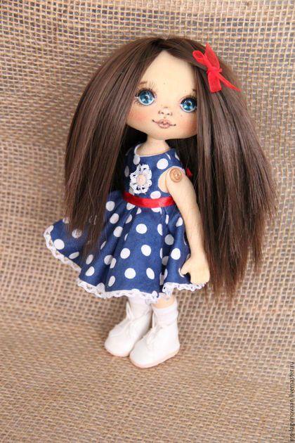 Коллекционные куклы ручной работы. Ярмарка Мастеров - ручная работа. Купить Горошинка. Handmade. Тёмно-синий, кукла текстильная