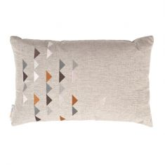 Eco-luxe triangles cushion