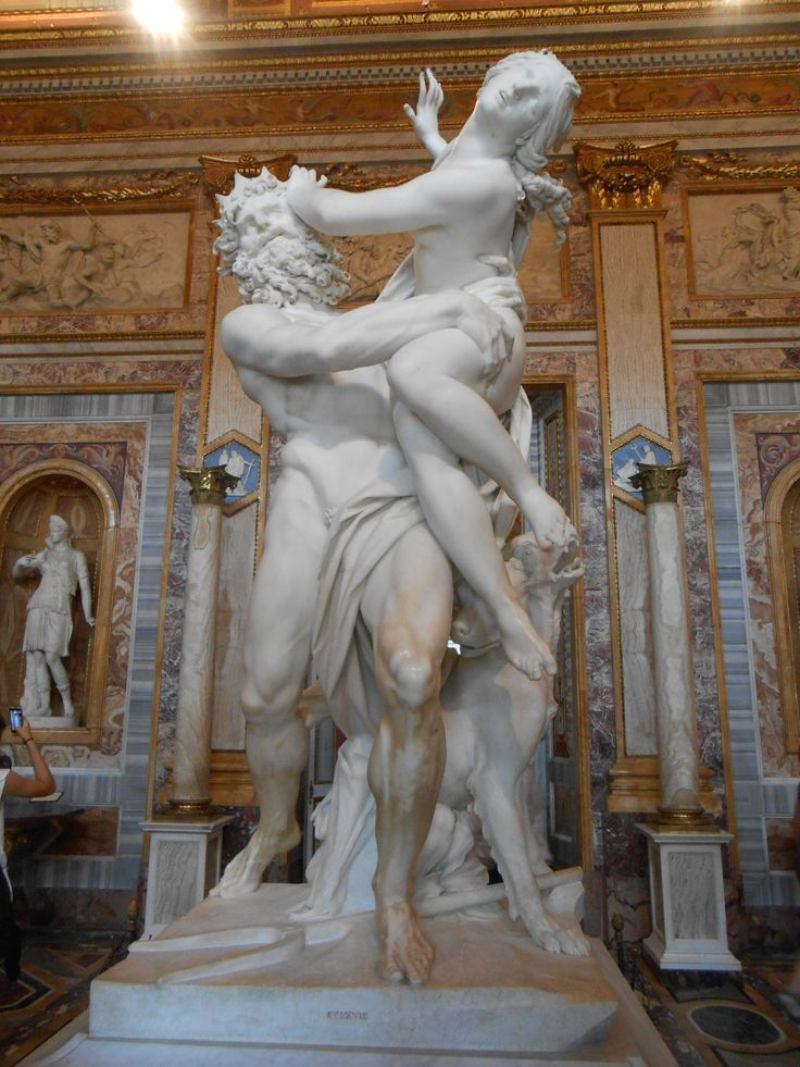 Bob goes to Villa Borghese. The museum which keeps all the masterpieces of Rome. Like the Rape of Proserpina. The craftmanship Bob can see in the statue is beyond compare. It looks as is it is alive.