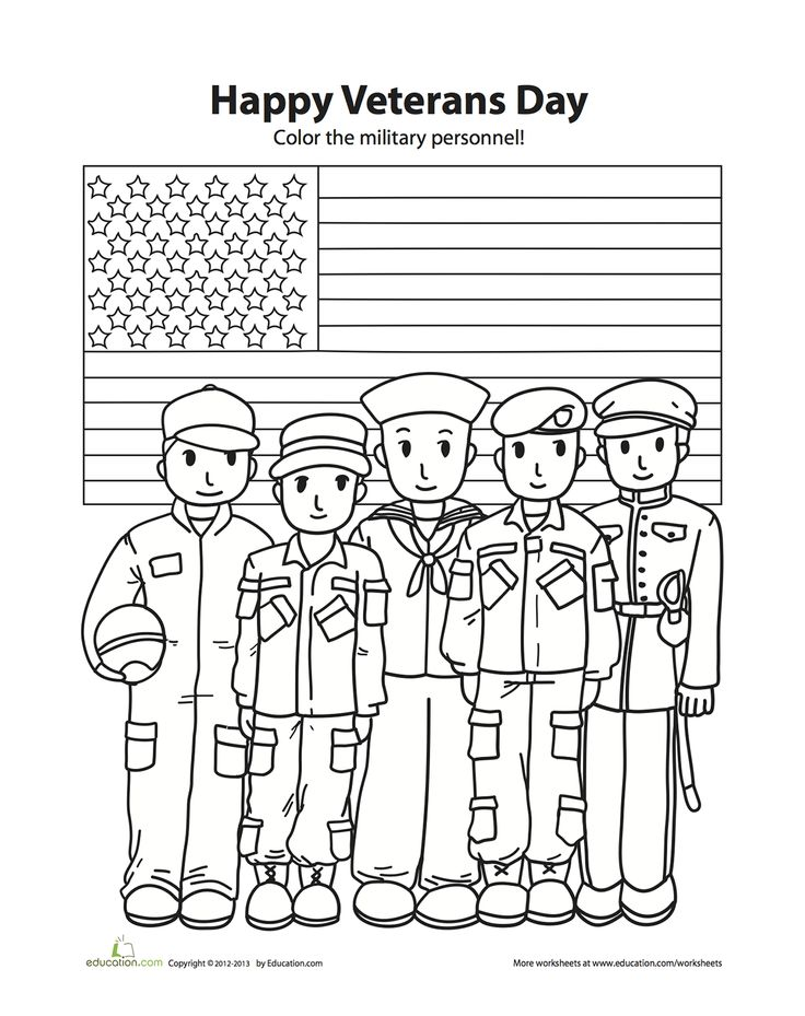veterans day online coloring pages - photo#32
