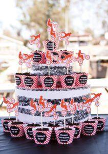 bmx birthday party cupcake tower