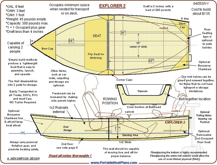 One Sheet Pond Skiff Build with FREE Plan's and info