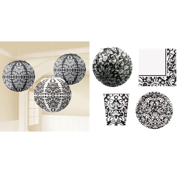 Damask Party Decorating Pack