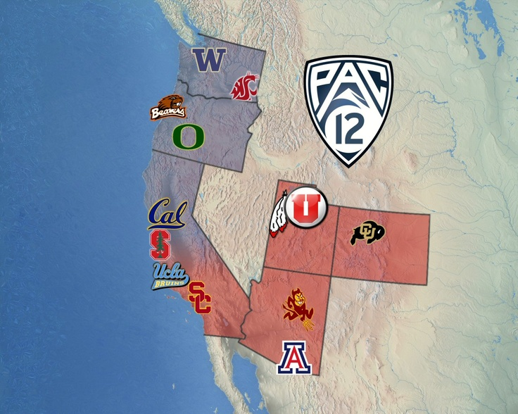 PAC-12 Map......Fight On USC!!! <3 my Trojans!!!