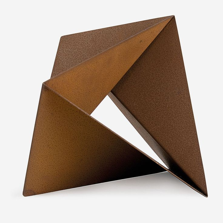 """Amílcar de Castro, born 1920,  was a Brazilian artist, sculptor and graphic designer. Starting his career as a graphic designer, he revolutioned the design of Brazilian newspapers in the 1950s, but from the 1960s he focused on sculpture and was one of the leading figures of the Brazilian neo-constructivist movement. Amilcar de Castro is particularly famous for large, bold simple iron forms nearly always characterised by a design based on """"one cut, one fold."""""""