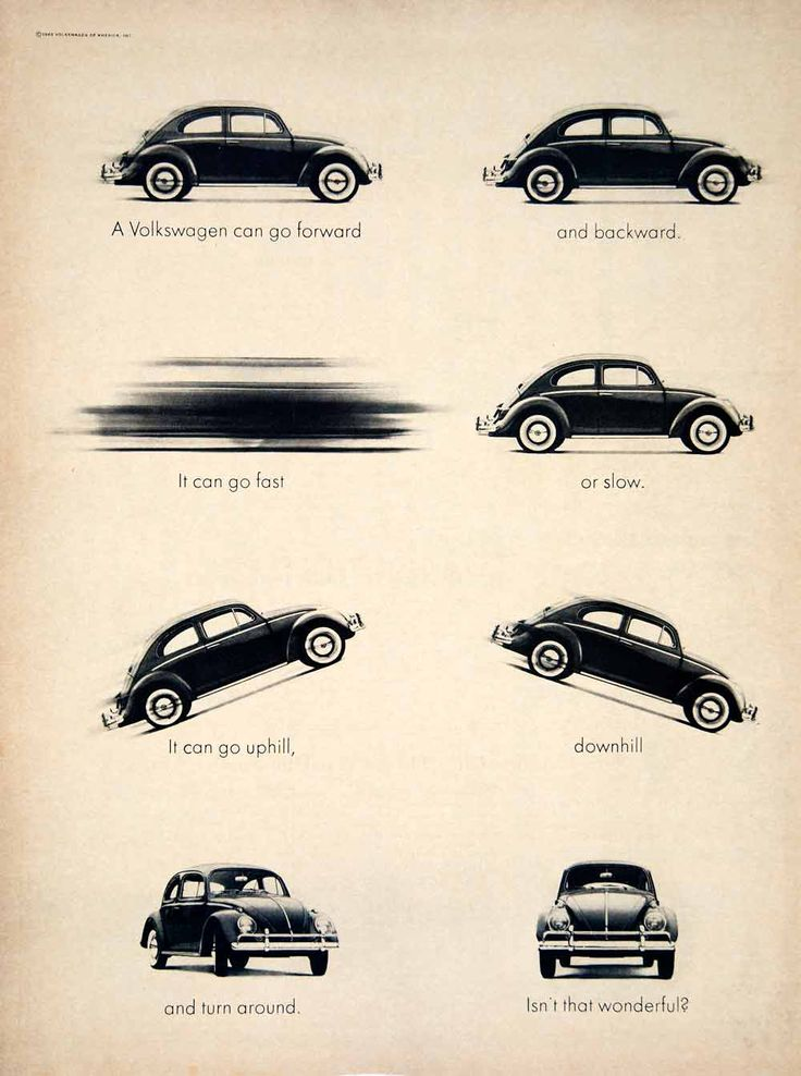 It is wonderful! Classic vw ad                                                                                                                                                     More