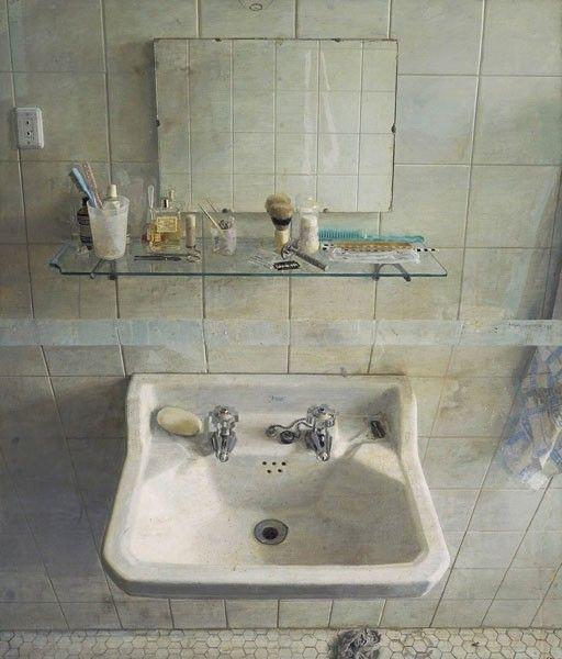 """Antonio Lopez Garcia, """"Sink and Mirror"""""""