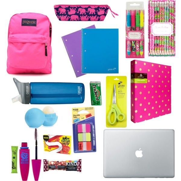 Back to school by laurensmith0515 on Polyvore featuring polyvore, beauty, Maybelline, Eos, JanSport, CamelBak and Lilly Pulitzer