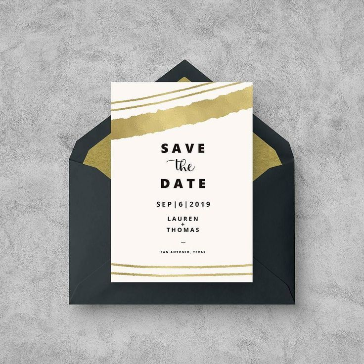 free online printable wedding thank you cards%0A Golden stripes save the date card  Download  u     print for free or send them  online